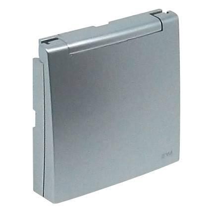 Лицевая панель для розетки Efapel (90634 TAL) алюминий