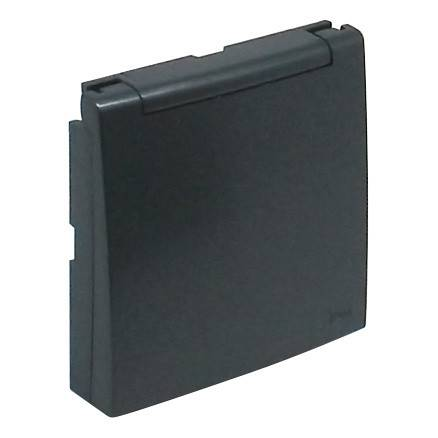 Лицевая панель для розетки Efapel (90634 TIS) тёмно-серый