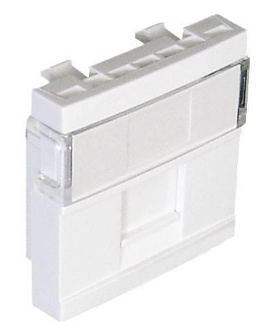 Лицевая панель для розетки со шторкой на 1 Keyston Efapel (45976 SBR)