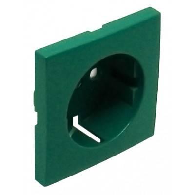 Лицевая панель для розетки Efapel (90632 TVD) зелёный
