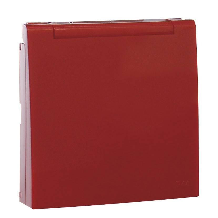 Лицевая панель для розетки Efapel (90634 TVM) красный