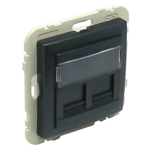 Лицевая панель для розетки Efapel (90442 SGE) тёмно-серый