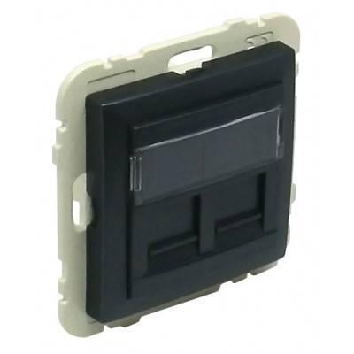 Лицевая панель для розетки Efapel (90442 SPM) чёрный