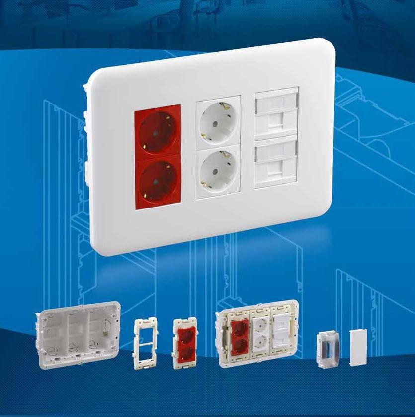 Коробка для настенного монтажа Efapel 83440 CBR
