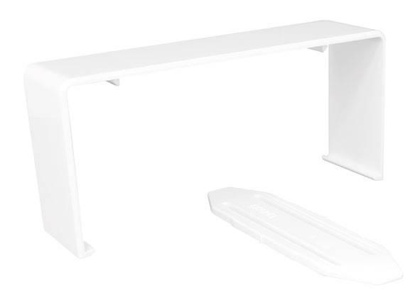 Накладка на стык Efapel Серия 10, внешний, для короба, 90х50 мм (ВхШ), цвет: белый