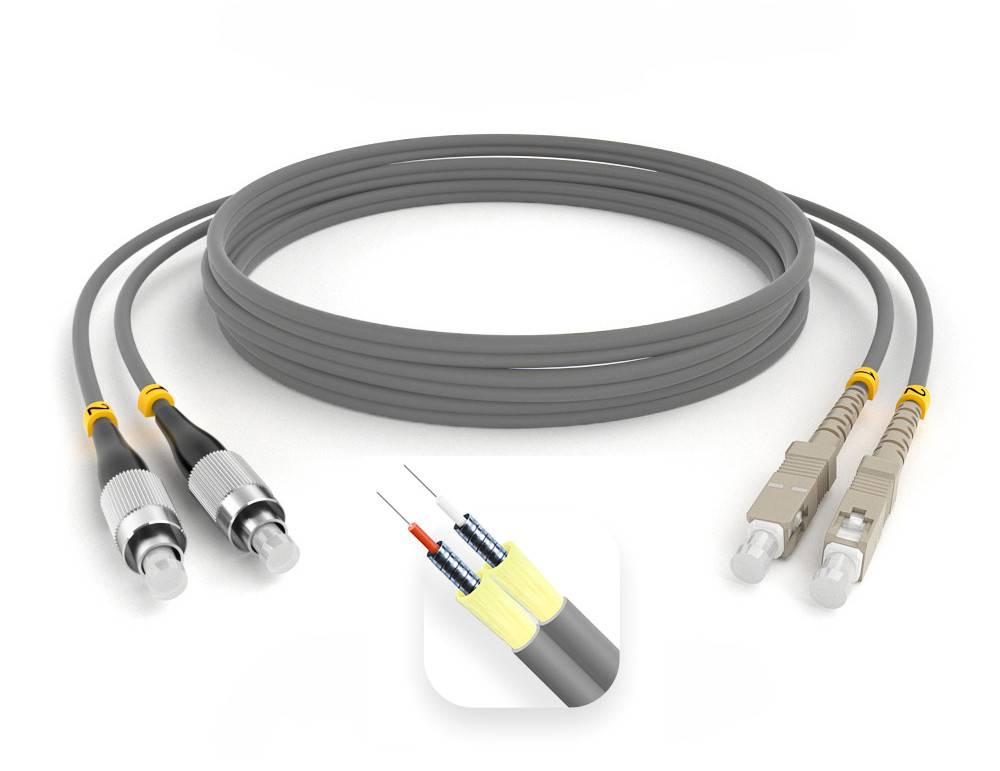 Шнур оптический армированный ARM-2FCSC62,5-50м-LSZH