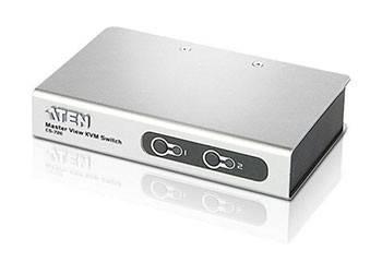 ATEN CS72ECZ-AT Переключатель, электрон., KVM, 1 user PS2+VGA, 2 cpu PS2/USB+VGA, со шнурами PS2 2х1.2м., 2048x1536, настол., исп.спец.шнуры, без OSD, некаскад