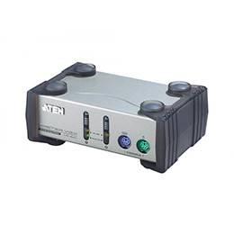 ATEN CS82AC-A7 Переключатель, электрон., KVM, 1 user PS2+VGA => 2 cpu PS2+VGA, со шнурами PS2 2х1.2м., 1920x1440, настол., исп.стандарт.шнуры, без OSD, некаскад.