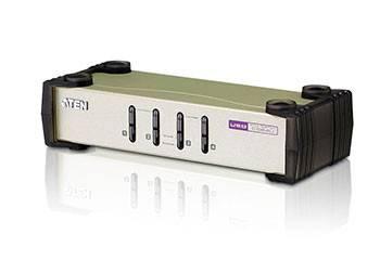 ATEN CS84U-AT Переключатель, электрон., KVM, 1 user PS2/USB+VGA, 4 cpu PS2/USB+VGA, со шнурами PS2/USB 2х1.2+2х1.8м., 2048x1536, настол., исп.стандарт.шнуры, без OSD, некаскад.