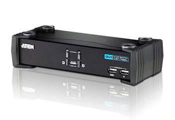 ATEN CS1762A-AT-G Переключатель, электрон., KVM+Audio+USB 2.0, 1 user USB+DVI, 2 cpu USB+DVI, со шнурами USB 2х1.8м., 1920x1200 60Hz, настол., исп.стандарт.шнуры, без OSD, некаскад., (WIN98SE/ME/2000/XP/2003/Vista/MAC/Linux/SUN/FreeBSD, USB Hub 2 пор