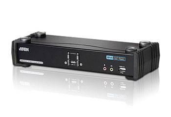 ATEN CS1782A-AT-G Переключатель, электрон., KVM+Audio+USB 2.0, 1 user USB+DVI, 2 cpu USB+DVI, со шнурами USB 2х1.8м., 2560x1600 60Hz DVI-D Dual Link/2048x1536 DVI-A, настол., исп.стандарт.шнуры, без OSD, некаскад., (WIN2000/XP/Vista/MAC/Linux/SUN)