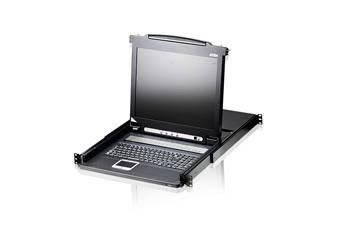 ATEN CL1016M-ATA-RG Переключатель, электрон., KVM, 1 user консоль LCD 17