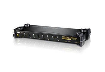ATEN CS1758Q9-AT-G Переключатель, электрон., KVM+Audio, 1 user USB+VGA, 8 cpu PS2/USB+VGA, без шнуров, 2048x1536, 1U 19