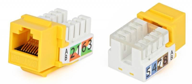 Модуль Keystone Hyperline KJ2-8P8C-C5e-90-YL