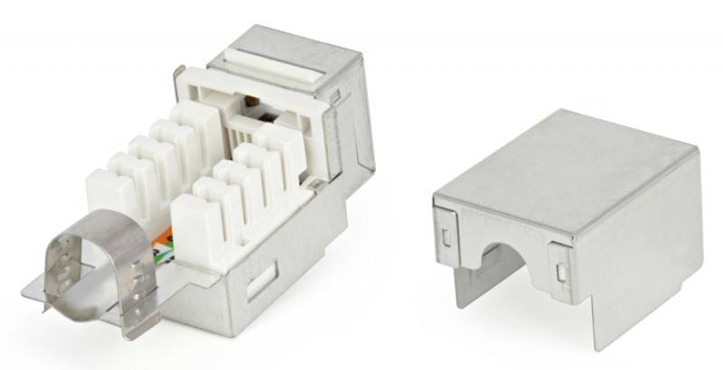Модуль Keystone Hyperline KJ2-8P8C-C5e-90-SH-F-WH