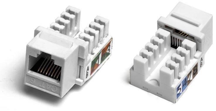 Модуль Keystone Hyperline KJ2-8P8C-C6-90-WH