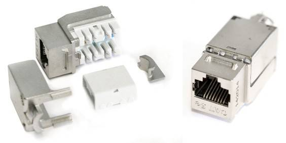 Модуль Keystone Hyperline KJNE-8P8C-C6A-90-SH-F-WH