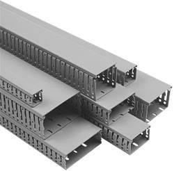 Efapel 14010 CCZ Короб перфорированный 25х30 в комплекте с крышкой, серый