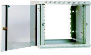 Шкаф телекоммуникационный 19 настенный 9U ЦМО ШРН-Э-6.500  дверь стекло