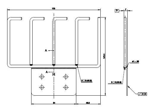 Кабельный органайзер Hyperline CMW-4U-CMB