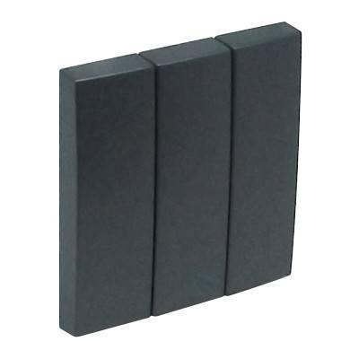 Клавиша для выключателя Efapel Logus90, 45х45 мм (ВхШ), кол-во клавиш: 3, цвет: тёмно-серый, (90661 TIS)