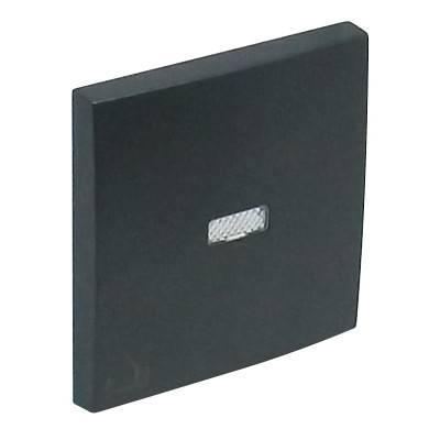 Клавиша для выключателя Efapel Logus90, 45х45 мм (ВхШ), с индикацией, кол-во клавиш: 1, цвет: тёмно-серый, (90795 TIS)