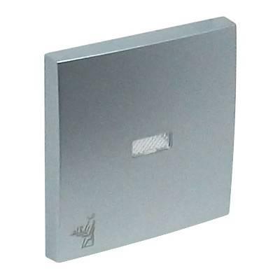 Клавиша для выключателя Efapel Logus90, 45х45 мм (ВхШ), с индикацией, кол-во клавиш: 1, цвет: алюминий, (90796 TAL)