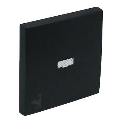 Клавиша для выключателя Efapel Logus90, 45х45 мм (ВхШ), с индикацией, кол-во клавиш: 1, цвет: чёрный, (90796 TPM)