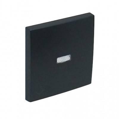 Клавиша для выключателя Efapel Logus90, 45х45 мм (ВхШ), с индикацией, кол-во клавиш: 1, цвет: чёрный, (90797 TPM)