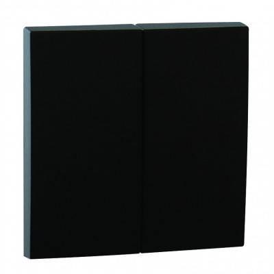 Клавиша для выключателя Efapel Logus90, 45х45 мм (ВхШ), кол-во клавиш: 2, цвет: чёрный, (90611 TPM)
