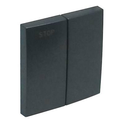 Клавиша для выключателя Efapel Logus90, 45х45 мм (ВхШ), кол-во клавиш: 2, цвет: тёмно-серый, (90613 TIS)