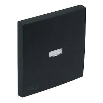 Клавиша для выключателя Efapel Logus90, 45х45 мм (ВхШ), с индикацией, кол-во клавиш: 1, цвет: чёрный, (90794 TPM)