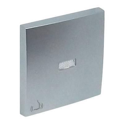 Клавиша для выключателя Efapel Logus90, 45х45 мм (ВхШ), с индикацией, кол-во клавиш: 1, цвет: алюминий, (90795 TAL)
