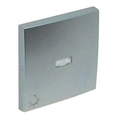 Клавиша для выключателя Efapel Logus90, 45х45 мм (ВхШ), с индикацией, кол-во клавиш: 1, цвет: алюминий, (90797 TAL)