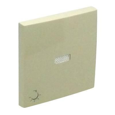 Клавиша для выключателя Efapel Logus90, 45х45 мм (ВхШ), с индикацией, кол-во клавиш: 1, цвет: бежевый, (90797 TMF)