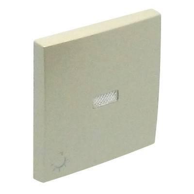Клавиша для выключателя Efapel Logus90, 45х45 мм (ВхШ), с индикацией, кол-во клавиш: 1, цвет: жемчуг, (90797 TPE)