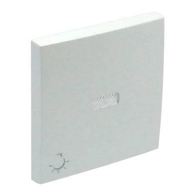 Клавиша для выключателя Efapel Logus90, 45х45 мм (ВхШ), с индикацией, кол-во клавиш: 1, цвет: лёд, (90797 TGE)
