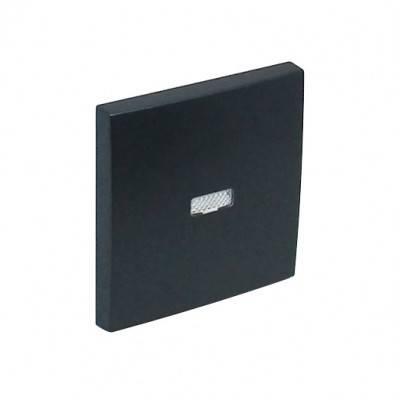 Клавиша для выключателя Efapel Logus90, 45х45 мм (ВхШ), с индикацией, кол-во клавиш: 1, цвет: чёрный, (90602 TPM)