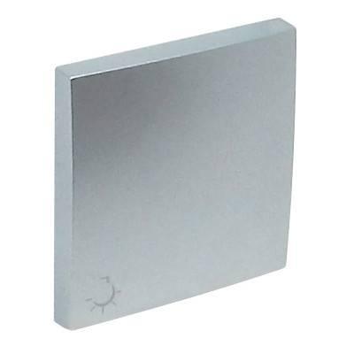 Клавиша для выключателя Efapel Logus90, 45х45 мм (ВхШ), кол-во клавиш: 1, цвет: алюминий, (90607 TAL)