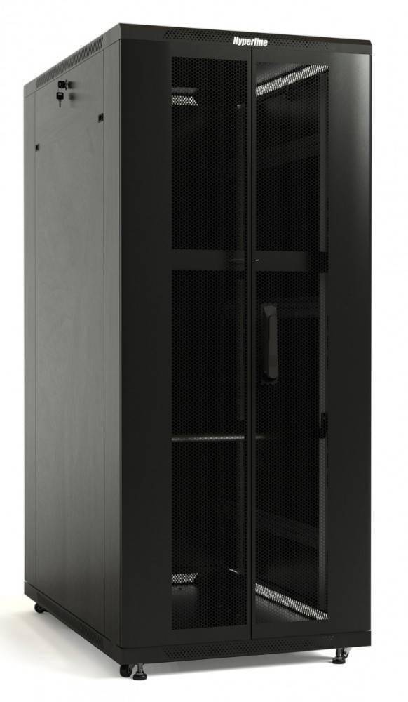 Шкаф телекоммуникационный напольный 19 серверный Hyperline TTB-1866-DD-RAL9004