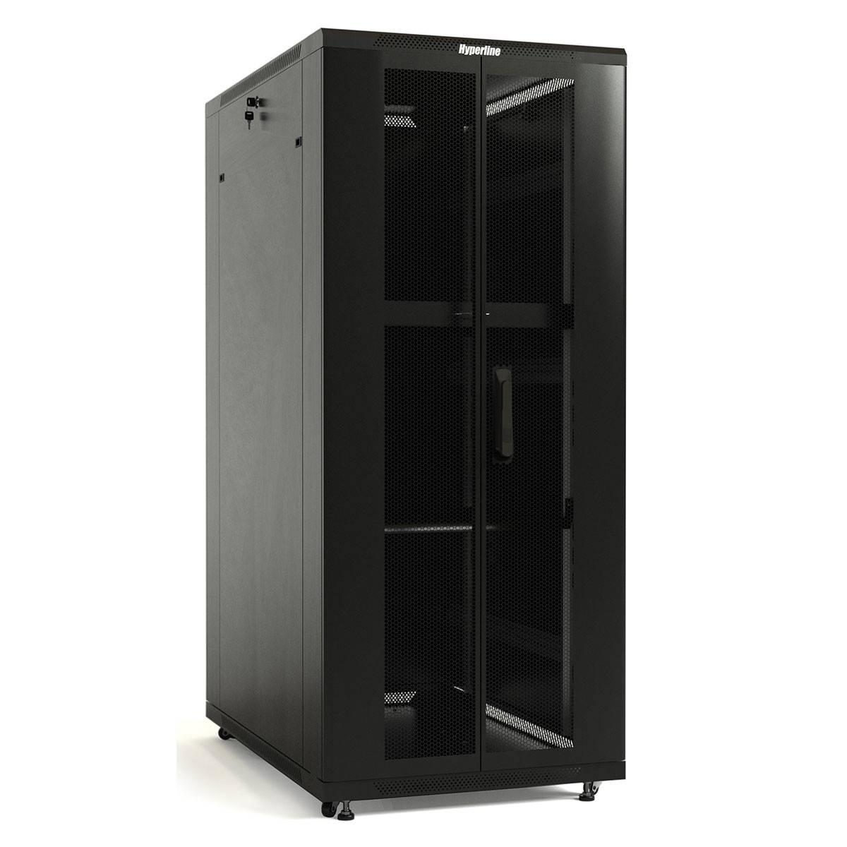 Шкаф телекоммуникационный напольный 19 дюймов Hyperline TTB-1868-DD-RAL9004