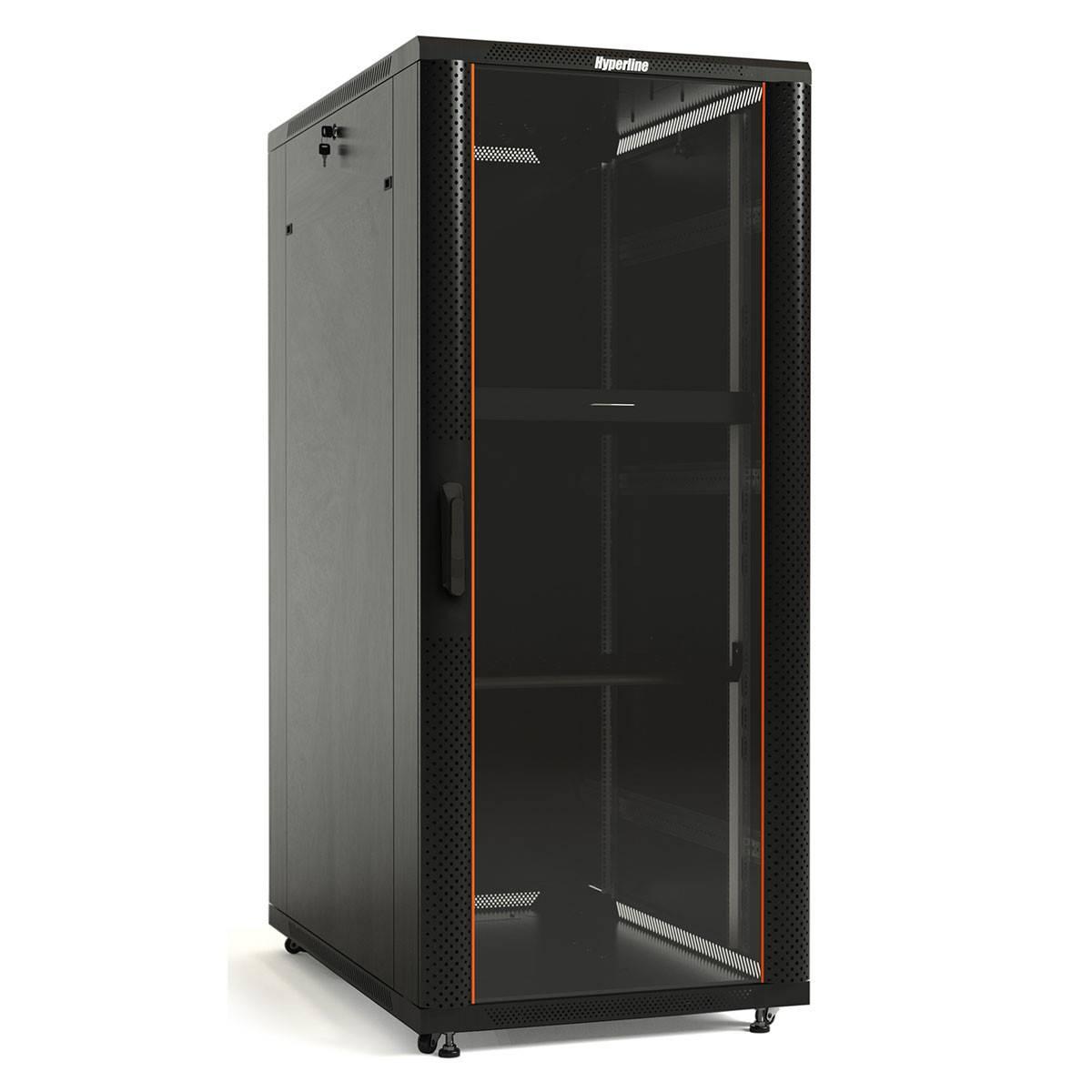 Шкаф телекоммуникационный напольный 19 серверный Hyperline TTB-2766-AS-RAL9004