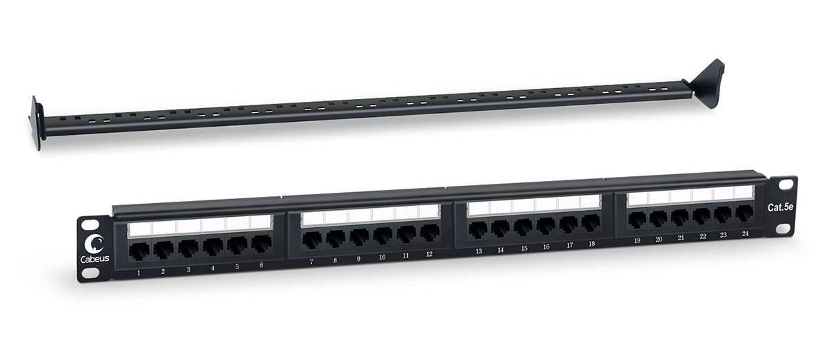 Патч-панель Cabeus PL-24-Cat.5e-Dual