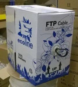 Кабель витая пара FTP Ecoline FTP4-sw-out