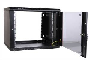 Шкаф настенный 19 дюймовый телекоммуникационный ЦМО ШРН-Э-15.350-9005-6