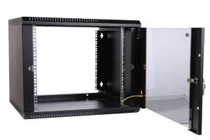 Шкаф настенный 19 дюймовый телекоммуникационный ЦМО ШРН-Э-9.350-9005-4