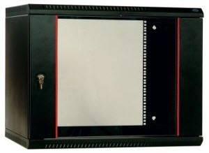 Шкаф настенный 19 дюймовый телекоммуникационный ЦМО ШРН-Э-18.350-9005-1