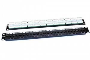 Патч панель 24 порта Hyperline PP3-19-24-8P8C-C5E-110D