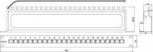 Патч-панель Hyperline PP-19-24-8P8C-C5e-SH-110D-3