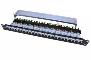 Патч панель 24 порта Hyperline PP3-19-24-8P8C-C5E-SH-110D